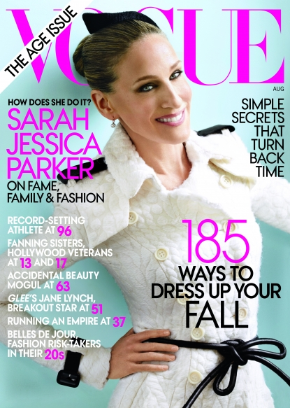 Sarah Jessica Parker as seen on the cover of Vogue's August 2011 issue