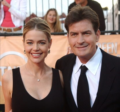Denise Richards and Charlie Sheen in 2005