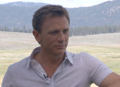 Daniel Craig chats with Access during a junket for 'Cowboys & Aliens' in Greenough, Montana, on July 14, 2011