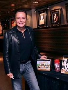 David Cassidy at the Hard Rock in NYC unveils pieces for benefit auction