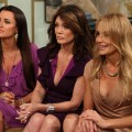 """The Real Housewives of Beverly Hills"" stars Kyle Richards, Lisa Vanderpump and Taylor Armstrong stop by Access Hollywood Live on July 27, 2011"