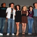 "Mekhi Phifer, John Barrowman, Eve Myles, Jena Hayes, Jane Epenson and Bill Pullman attend the ""Torchwood"" panel at 2011 Comic-Con International - Day 2 at San Diego Convention Center, San Diego, on July 22, 2011"