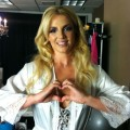 Britney Spears seen making a heart shape for the &#8220;Show Your Hearts&#8221; campaign, July 2011