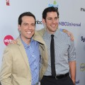 Ed Helms and John Krasinski arrive at the NBC Universal TCA 2011 Press Tour All-Star Party at the SLS Hotel, Los Angeles, on August 1, 2011