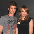 "Andrew Garfield and Emma Stone speak at ""The Amazing Spider-Man"" panel during Comic-Con 2011 at San Diego Convetion Center in San Diego on July 22, 2011"