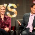 Jane Lynch and Executive Producer Mark Burnett speak onstage at 63rd Primetime Emmy Awards panel during the FOX portion of the 2011 Summer TCA Tour at the Beverly Hilton Hotel, Beverly Hills, on August 5, 2011