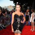 Lea Michele arrives at the Premiere Of Twentieth Century Fox's 'Glee The 3D Concert Movie' at the Regency Village Theater in Westwood, Calif., on August 6, 2011
