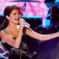 Selena Gomez of Selena Gomez & The Scene perform onstage during the 2011 Teen Choice Awards held at the Gibson Amphitheatre in Universal City, Calif. on August 7, 2011