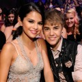 Selena Gomez and Justin Bieber are seen at the 2011 Teen Choice Awards at Gibson Universal Amphitheatre in Universal City, Calif. on August 7, 2011