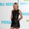 "Jennifer Aniston strikes a pose at the ""Horrible Bosses"" press event in London on July 20, 2011"