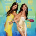 Demi Lovato and Selena Gomez laugh it up at the 2011 Teen Choice Awards held at the Gibson Amphitheatre in Universal City, Calif. on August 7, 2011