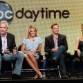Executive Producer Gordon Elliott, hosts Daphne Oz, Clinton Kelly and Carla Hall of the television show &#8220;The Chew&#8221; speak during the Disney ABC Television Group portion of the 2011 Summer Television Critics Association Press Tour held at The Beverly Hilton Hotel, Beverly Hills, on August 7, 2011