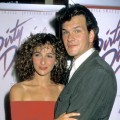 "Jennifer Grey and Patrick Swayze attend the premiere of ""Dirty Dancing"" at the Gemini Theater in New York City, on August 17, 1987"