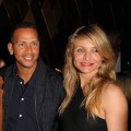 Cameron Diaz and Alex Rodriguez pose together in Miami on February 6, 2010