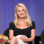 "Nicollette Sheridan speaks during the ""Honeymoon for One"" panel during the Hallmark portion of the 2011 Summer TCA Tour at the Beverly Hilton, Beverly Hills, on July 27, 2011"