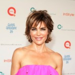 Lisa Rinna smiles at QVC Presents Super Saturday Live at Nova&#8217;s Art Project in Water Mill, New York, on July 30, 2011