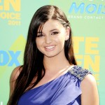 Rebecca Black is all smiles at the 2011 Teen Choice Awards in Universal City, Calif. on August 7, 2011