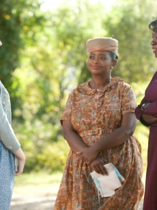 Emma Stone, Viola Davis and Octavia Spencer in &#8220;The Help&#8221;