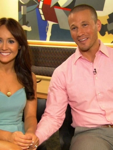 &#8220;The Bachelorette&#8217;s&#8221; Ashley Hebert and  J.P. Rosenbaum chat with Access Hollywood in New York City on August 2, 2011