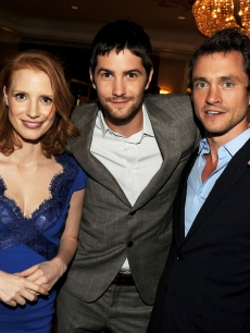 Jessica Chastain, Jim Sturgess, and Hugh Dancy enjoy The Hollywood Foreign Press Association's 2011 Installation Luncheon at Beverly Hills Hotel in Beverly Hills, Calif. on August 4, 2011