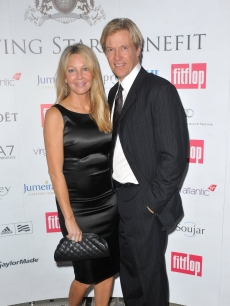 Heather Locklear and Jack Wagner attend the FitFlop Shooting Stars Benefit Closing Ball at the Royal Courts of Justice in London on August 5, 2011