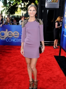 Heather Morris arrives at the Premiere Of Twentieth Century Fox's 'Glee The 3D Concert Movie' at the Regency Village Theater in Westwood, Calif., on August 6, 2011