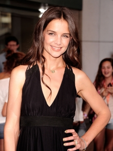 "Katie Holmes is all smiles at the ""Don't Be Afraid Of The Dark"" premiere in New York City on August 8, 2011"