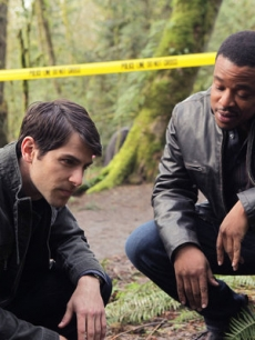 "David Giuntoli as Nick Burckhardt, Russell Hornsby as Hank Green in ""Grimm"" on NBC"