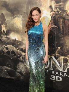 "Rose McGowan dazzles at the world premiere of ""Conan The Barbarian"" in Los Angeles, Calif. on August 11, 2011"
