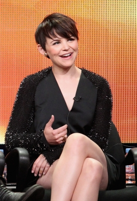 "Ginnifer Goodwin of the television show ""Once Upon A Time"" speaks during the Disney ABC Television Group portion of the 2011 Summer Television Critics Association Press Tour held at The Beverly Hilton Hotel, Beverly Hills, on August 7, 2011"