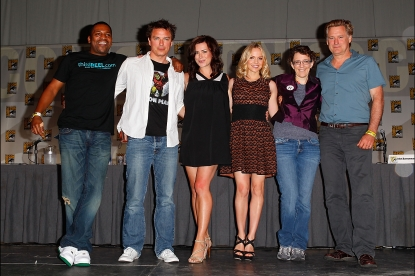 Mekhi Phifer, John Barrowman, Eve Myles, Jena Hayes, Jane Epenson and Bill Pullman attend the &#8220;Torchwood&#8221; panel at 2011 Comic-Con International - Day 2 at San Diego Convention Center, San Diego, on July 22, 2011