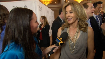 Felicity Huffman chats with AccessHollywood.com's Laura Saltman