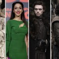 Sophie Turner as Sansa Stark, Oona Chaplin, Richard Madden as Robb Stark and Kit Harington as Jon Snow