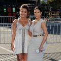 Demi Lovato and Kim Kardashian look stunning in white at the 2011 VH1 Do Something Awards at the Hollywood Palladium in Hollywood, Calif. on August 14, 2011 