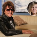 Richie Sambora on Access Hollywood Live, daughter Ava inset