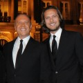 Michael Kors and Lance LePere attend a cocktail and dinner hosted in honor of designer Michael Kors during Paris Fashion Week Fall/Winter 2012 at the Embassy Of The United States, Paris, on March 7, 2011