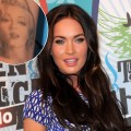 Megan Fox poses in the press room at the 2010 Teen Choice Awards held at the Gibson Amphitheatre in Universal City, Calif. on August 8, 2010 / inset: the actress' Marilyn Monroe tattoo