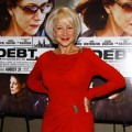 "Helen Mirren glams it up in red at ""The Debt"" screening in New York City on August 22, 2011"