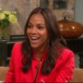 Zoe Saldana stops by Access Hollywood Live on August 26, 2011