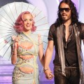 Katy Perry and Russell Brand arrive at the 2011 MTV Video Music Awards at Nokia Theatre L.A. LIVE in Los Angeles on August 28, 2011 