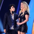 Lady Gaga as Jo Calderone and Britney Spears on stage at the The 28th Annual MTV Video Music Awards at Nokia Theatre L.A. LIVE in Los Angeles on August 28, 2011