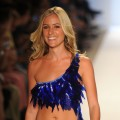 Kristin Cavallari walks the runway for the Diesel show during Mercedes-Benz Fashion Week Swim at Raleigh Hotel, Miami Beach, on July 14, 2011
