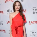 "Angelina Jolie steps out at the premiere of ""The Tree of Life"" at the Bing Theatre at the Los Angeles County Museum of Art in Los Angeles on May 24, 2011"