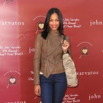 Zoe Saldana arrives at the John Varvatos 8th Annual Stuart House Benefit held at John Varvatos Los Angeles on March 13, 2011 in Los Angeles