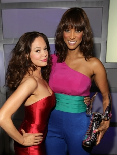 Rose McGowan and Tyra Banks, winner of the Do Something Style Award, are seen at the 2011 VH1 Do Something Awards at the Hollywood Palladium in Hollywood, Calif. on August 14, 2011