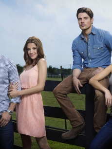 "Jordana Brewster, Josh Henderson, Jesse Metcalfe and Julie Gonzalo in TNT's ""Dallas"""