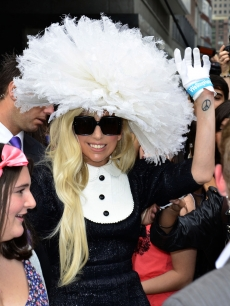 Lady Gaga is seen on the streets of Manhattan in New York City on August 18, 2011 
