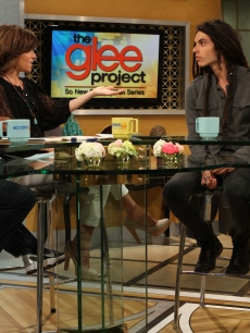 """The Glee Project"" winners Samuel Larsen and Damian McGinty chat with Kit Hoover and guest co-host Arsenio Hall on Access Hollywood Live on August 22, 2011"