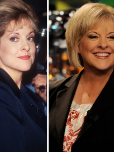 Nancy Grace in 1996 (left) and in 2011 (right)