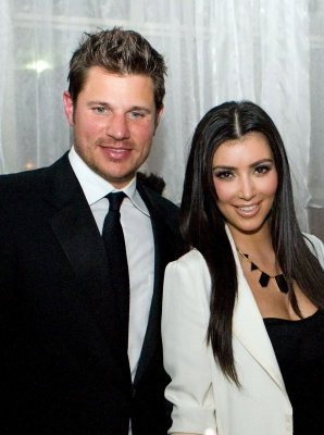 Nick Lachey and Kim Kardashian attend the 2nd Annual Derby Spectacular Celebration at Glassworks in Louisville, Kentucky, on May 1, 2009 